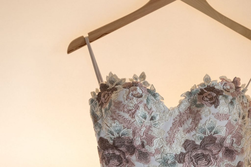Two Piece designer Wedding Gown