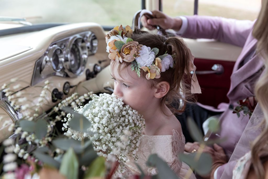 Flower Girl headpiece and flowers