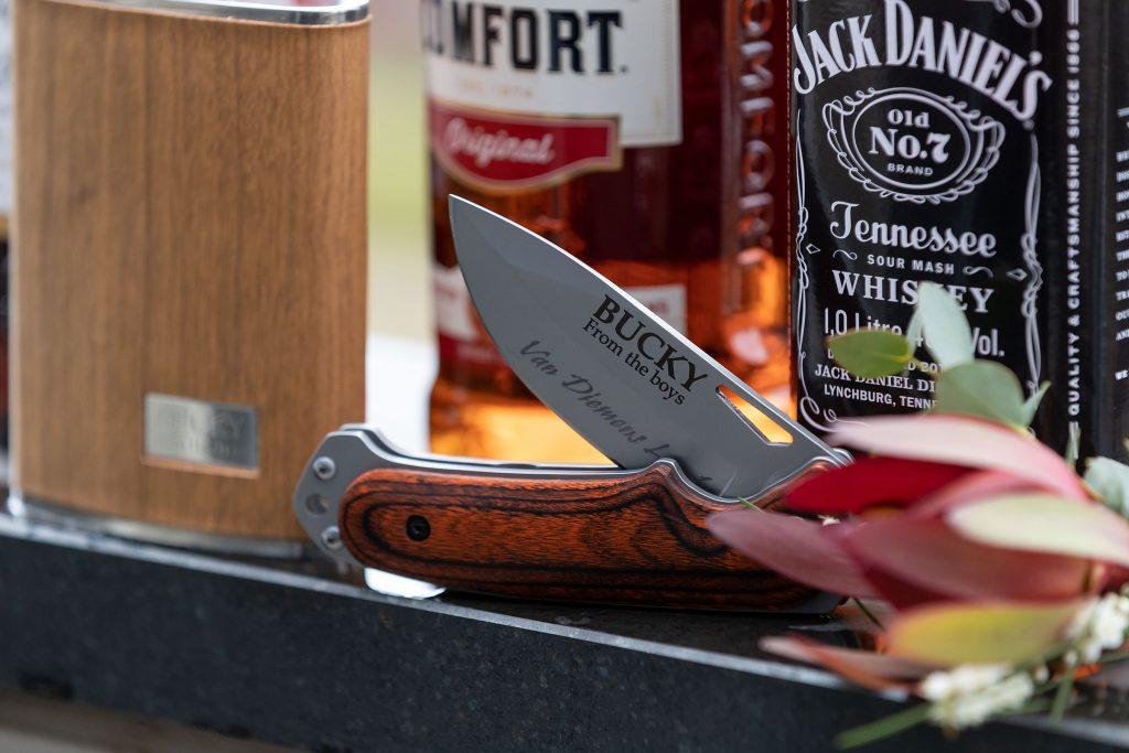 Groom Gift engraved pocket knife