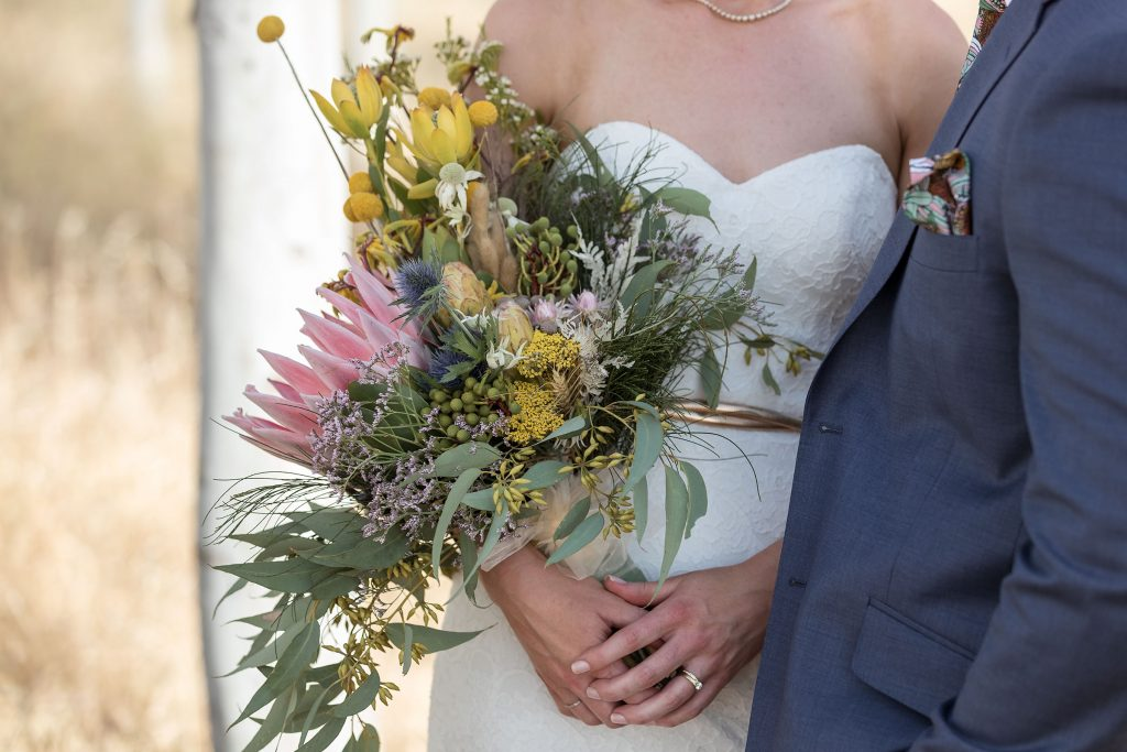 Native Flowers Wedding Bouquet