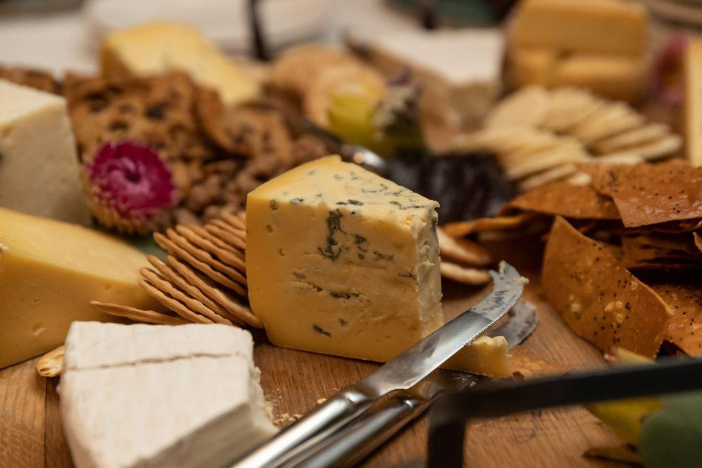 Gourmet cheese platter wedding reception